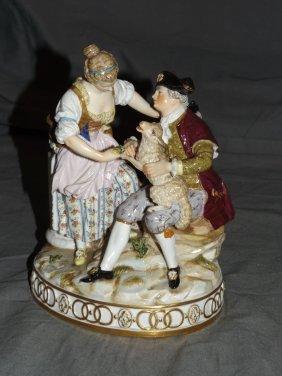 Meissen Porcelain Figural Grouping.