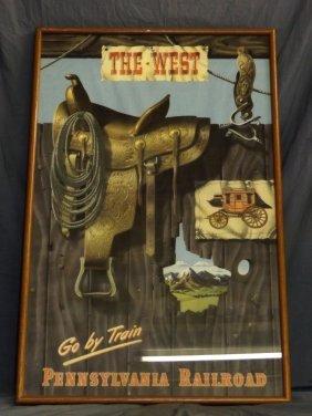 The West, Orig Pennsylvania Railroad Travel Poster
