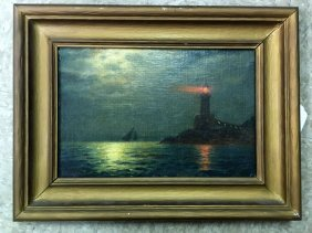 James Gale Tyler (185-1931), Oil On Board