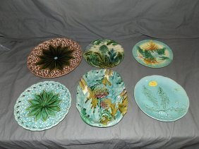 Lot Of Six Decorative Pottery Plates.