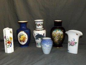 Porcelain Vases. Lot Of 6.