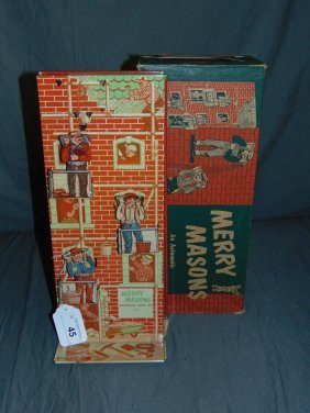 Wolverine Merry Masons Tin Sand Toy In Orig Box