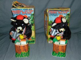 (2) Boxed Rosko B/o Maxwell Coffee Loving Bears
