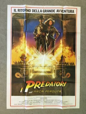 Signed Raiders Of The Lost Ark, Italian Poster