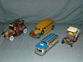 Assorted Tin Litho Vehicle Lot
