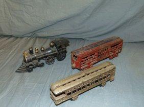 3 Piece Cast Iron Train Lot