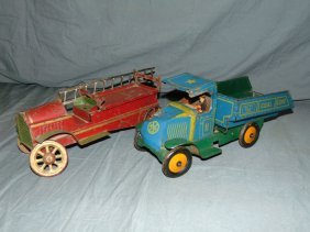Lot Of 2 Pressed Tin Vehicles
