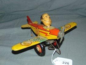 Tin Litho Marx Dagwood Solo Flight Aeroplane