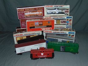 Lionel Boxed Mpc Freight Cars And K-line Cars