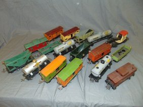 Large Lot Of Lionel Pre-war Freight Cars