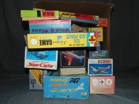 Large Lot Of Empty Toy Airplane Boxes
