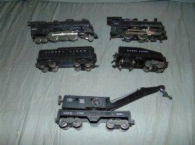 Lionel Postwar Lot, Engines, Tender, & Crane