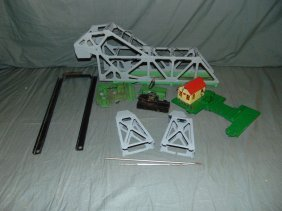 Lionel #313 Bascule Bridge, Disassembled