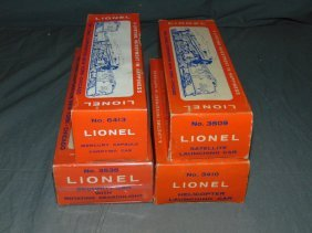 Lionel Lot Of 4 Military Cars
