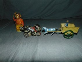 3 Piece Tin Lithographed Toy Lot