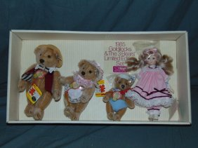 Suzanne Gibson Steiff Goldilocks & 3 Bears Set