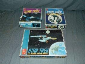 (3) Star Trek Amt Model Kits 1966 & 1975