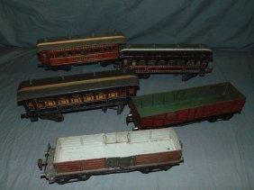 Lot Of Five European Train Cars.