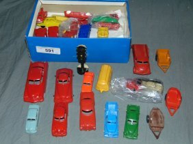 Box Lot Of Assorted Plastic Toy Vehicles