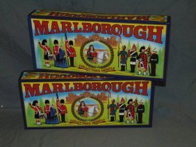 Lot Of 2 Boxed Marlborough Toy Soldier Sets