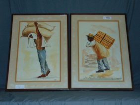 Francisco Mora (1922 - 2002) Watercolors (2)