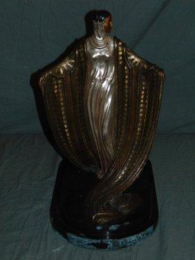 "Erte ""la Mysterieuse"" Limited Ed Bronze Sculpture"