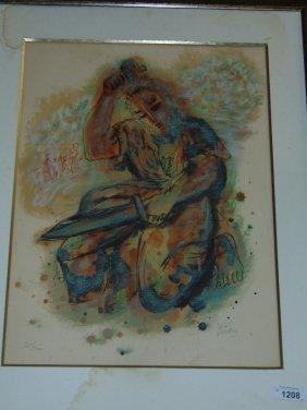 Reuven Rubin Judaica Lithograph, Signed
