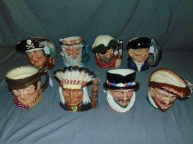 Royal Doulton Toby Mugs. Lot Of 8