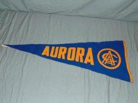 "Scarce Aurora Race Course Racing Pennant 32-1/2"""