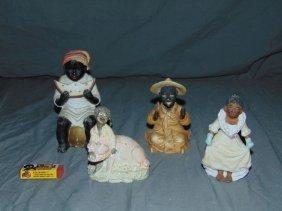4 Piece Black Americana Figurine Lot