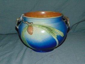 "Roseville Pottery ""pinecone"" Jardiniere"