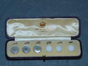 Asprey Collar Button Set.