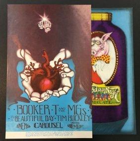 (2) 1968 Carousel Ballroom Concert Posters