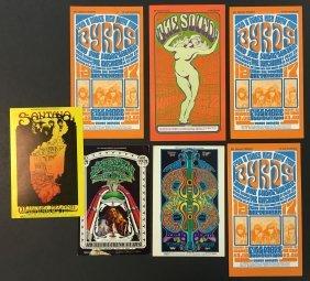 (7) Fillmore Concert Postcards Handbills