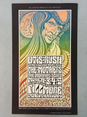 1967 Otis Rush Zappa Bg53 Concert Poster