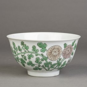 A Porcelain Bowl Of Peony Motif