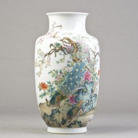 A Porcelain Lantern Vase