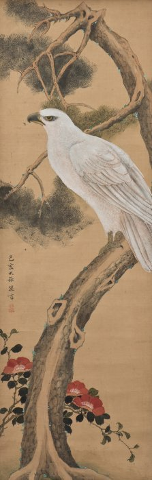 A Chinese Scroll Painting Of Eagle Motif, After Si Yan