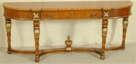 ITALIAN STYLE CONSOLE TABLE W/SINGLE DR