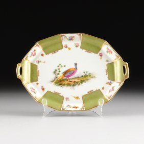 A Limoges Transfer Printed And Hand Painted Porcelain