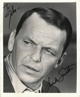 """A Frank Sinatra Autographed And Inscribed 8"""" X 10"""""""