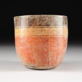 A Pre-columbian Polychrome Pottery Vessel, Mayan, Late