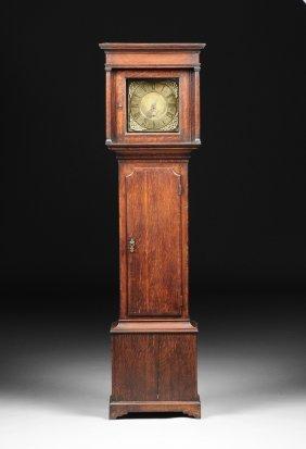 A George Iii Carved Oak Longcase Clock, Dial Signed