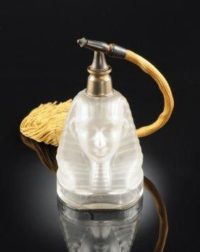 "A Baccarat Crystal ""ramsÈs Iv"" Figural Perfume Bottle,"