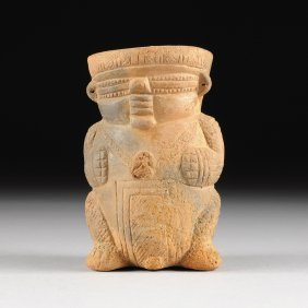 A Pre-columbian Pottery Figural Vessel, Calima Valle