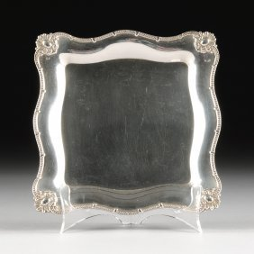 A Vintage American Sterling Silver Salver, By Theodore