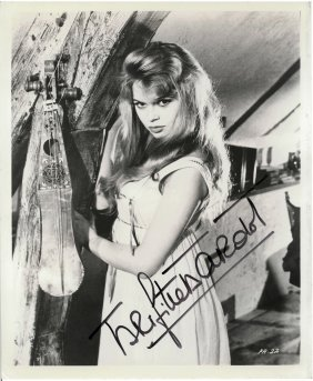 "A Brigitte Bardot Autographed 8"" X 10"" Black And White"