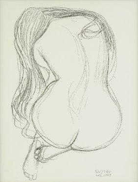 "After Gustav Klimt (austrian 1862-1918) A Print, ""study"