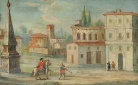 "European School (20th Century) A Painting, ""town"