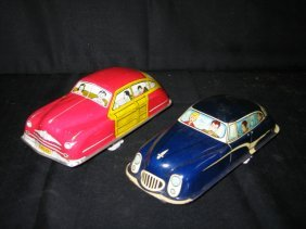 COURTLAND WOODY SEDAN & MARX TIN BLUE FRICTION CAR